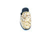 SHOES - GOLDEN LEOPARD COLLECTION, MULE SLIP ON WITH STUD DETAILING & FUR INNER
