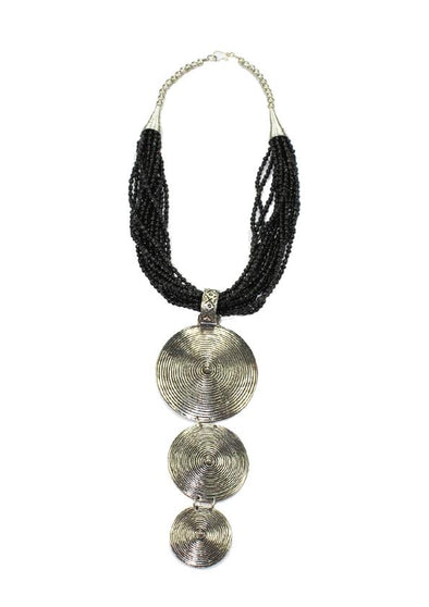 JEWELLERY - BLACK DASTIAN NECKLACE