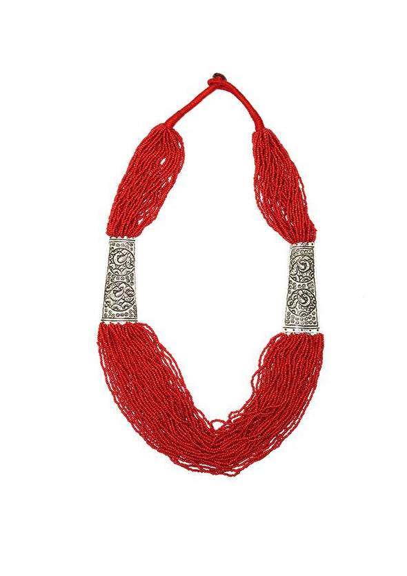JEWELLERY - HINDI RED NECKLACE
