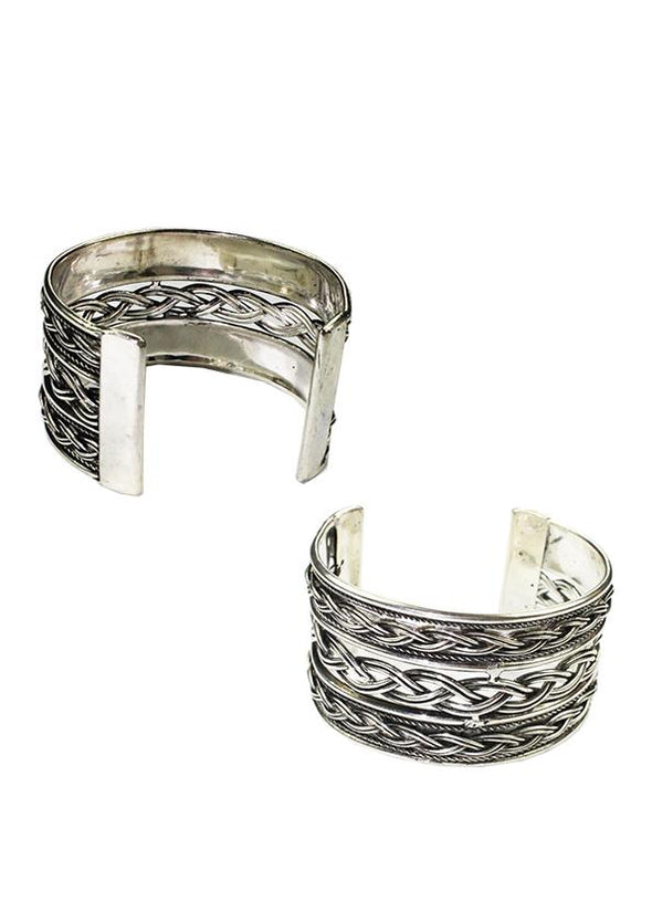JEWELLERY - UDAIPUR SILVER COLOURED CUFF