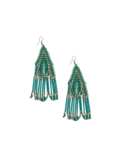 JEWELLERY - BIRDCAGE DROP BEADED EARRINGS