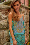 MARRAKESH COLLECTION - Overlay Dress with Flowing Cape