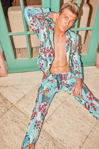 MENS - BIRDCAGE SLOUCH SILK SUIT
