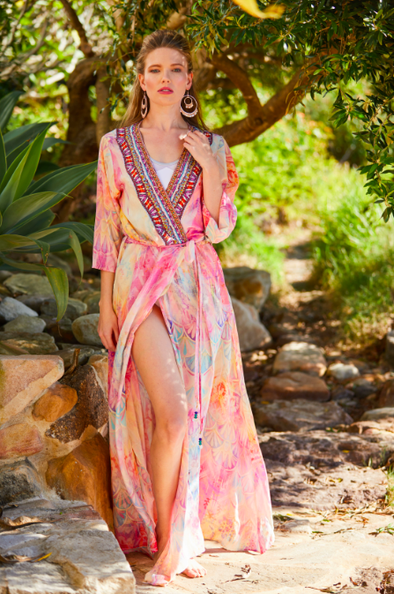 PINK CELOSIA COLLECTION - LUXE ROBE GOWN