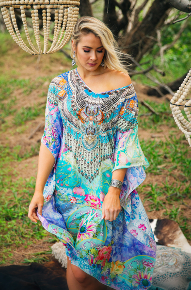 DREAMING LOTUS - Short Kaftan