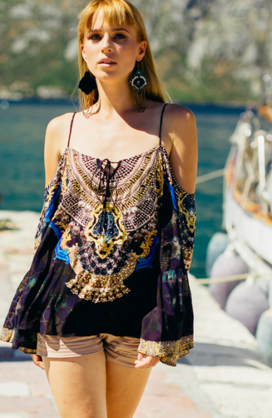 MIDNIGHT COLLECTION - GYPSY TUNIC TOP
