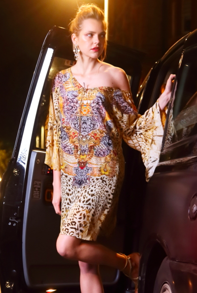GOLDEN LEOPARD COLLECTION - GYPSY DRESS