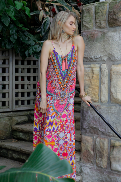 MARANALLO COLLECTION - MAXI DRESS WITH ADJUSTABLE STRAPS
