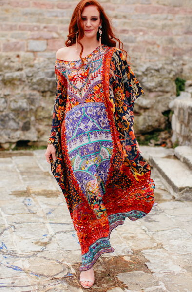 Swank Store Long Kaftan Sevillia Collection