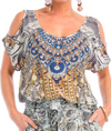MUSEE' COLLECTION - COLD SHOULDER TOP
