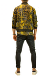 MENS - VALLETTA COLLECTION - BOMBER JACKET IN BLACK & GOLD PATTERN
