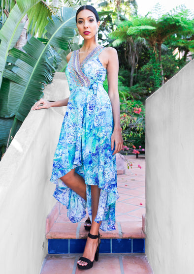 AMALFI AZURE - Wrap Dress