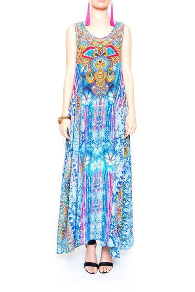 CABO SAN LUCAS - SLEEVELESS MAXI DRESS