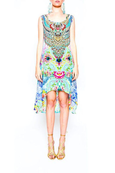 DREAMING LOTUS - Hi-Lo Midi Dress