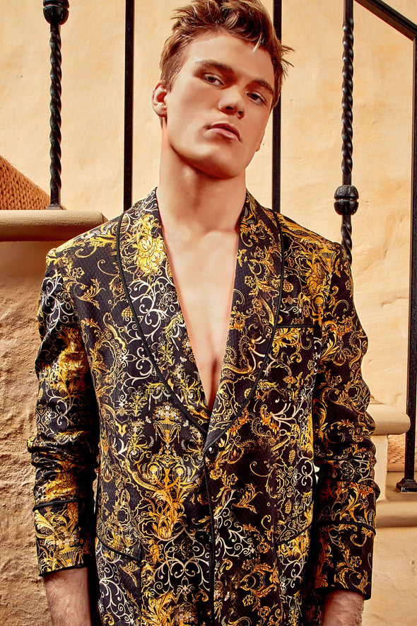 MENS - VALLETTA COLLECTION SLOUCH SILK SUIT