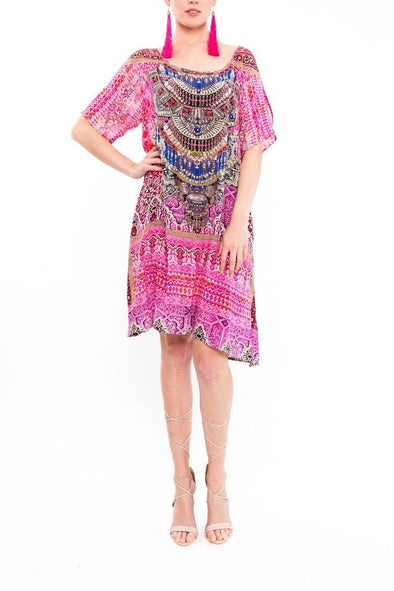MOROCCAN ROMANCE - SLIT SLEEVE DRESS