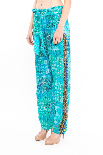 PACIFICO COLLECTION - SILK EMBELLISHED TROUSERS