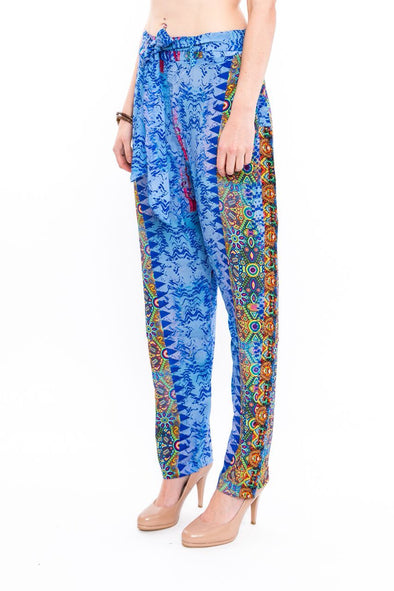 CABO SAN LUCAS - SILK EMBELLISHED TROUSERS