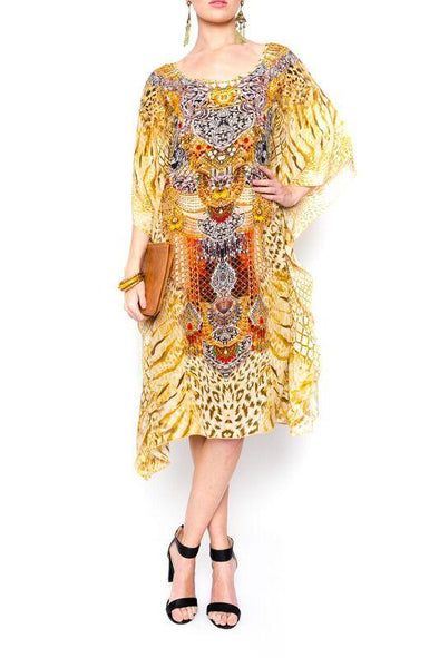 GOLDEN LEOPARD - Short Kaftan