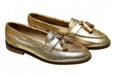 SHOES - KILTE COPPER / CALF SKIN COPPER LOAFER WITH LEATHER TASSLES