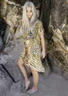 GOLDEN LEOPARD -  Kaftan Tunic Top (Longer Style)
