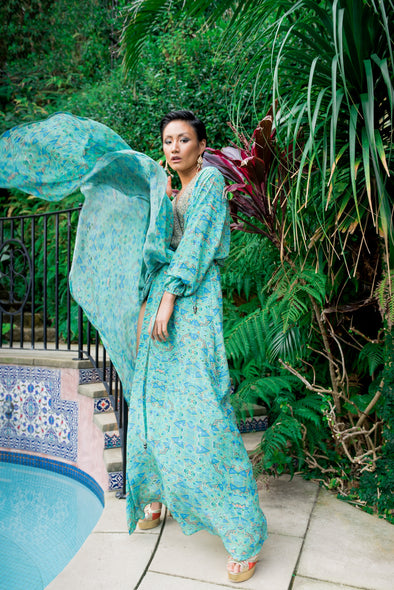 EMERALD FOREST - LUXE ROBE GOWN