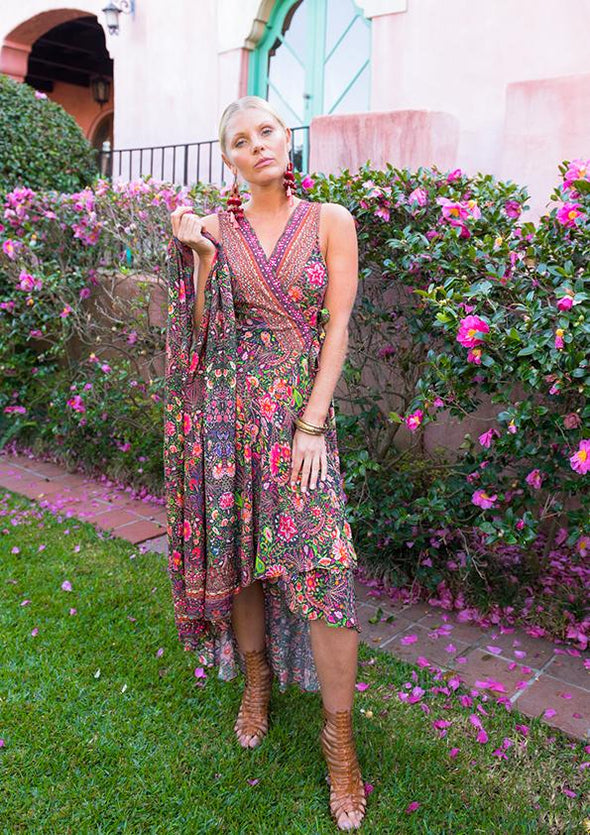 Wrap Dress Silk from The Swank Store Resortwear Fashion