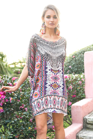 PERUVIAN COLLECTION -  Kaftan Tunic Top (Longer Style)