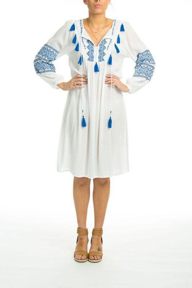 BANDREA - Boho Dress With Long Sleeves - TheSwankStore - 1