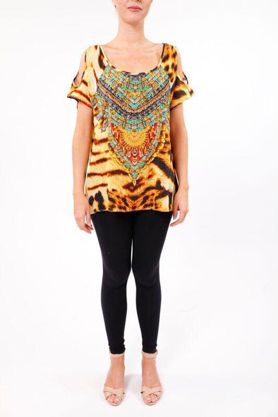 WILD SAHARA - COLD SHOULDER TOP - TheSwankStore - 1