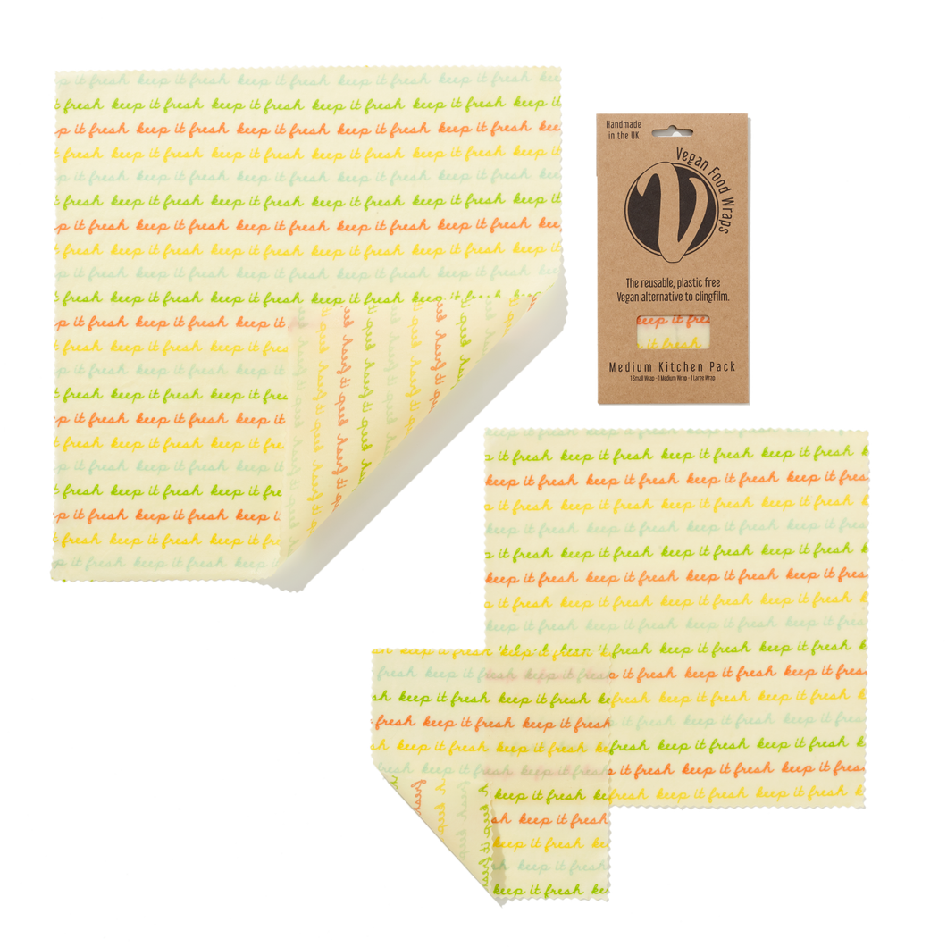 Vegan Wax Wraps - Medium Kitchen Pack