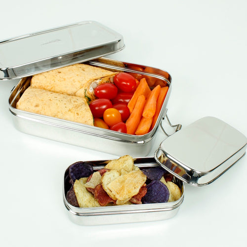 Large Rectangle Lunchbox with Added Mini Container - Slice Of Green