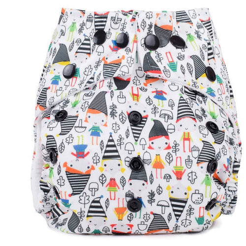 Baba+Boo One Size Reusable Cloth Nappy - Elf Town