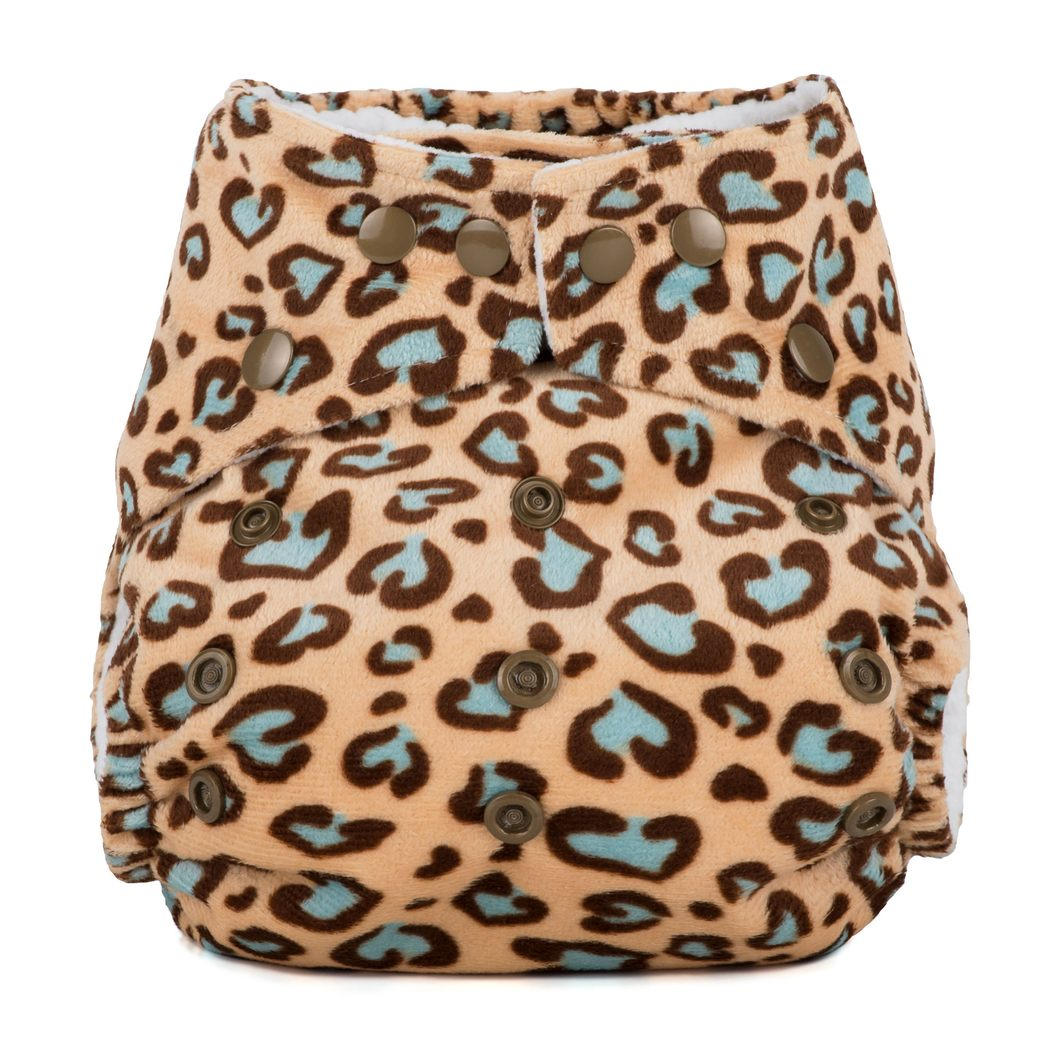 Baba+Boo One Size Reusable Cloth Nappy - Leopard Minky