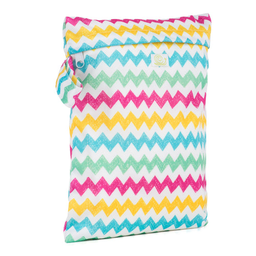 Reusable Wet Storage Bag Small -Chevrons