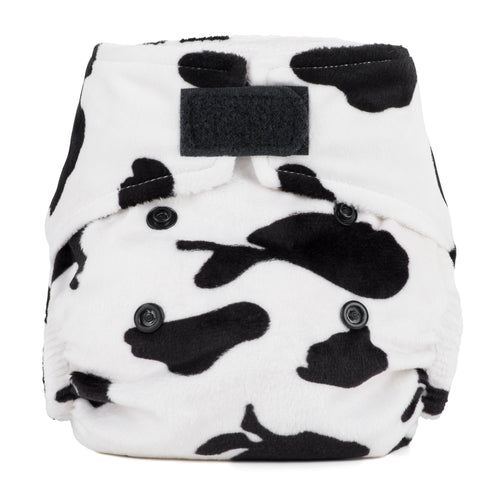 Baba + Boo Newborn Reusable Nappy - Minky Cow