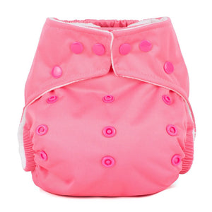 Baba+Boo One Size Reusable Cloth Nappy - Plain Pink