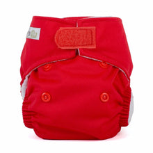 Baba + Boo Newborn Reusable Nappy - Plain Red