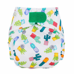 Baba + Boo Newborn Reusable Nappy - Succulents