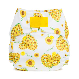 Baba + Boo Newborn Reusable Nappy - Sunflowers