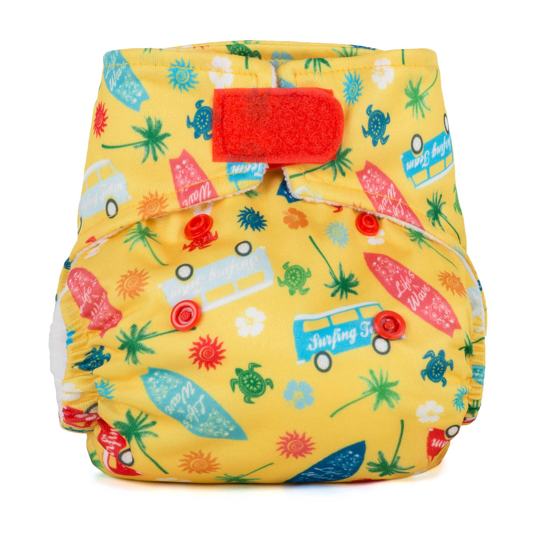 Baba + Boo Newborn Reusable Nappy - Surfs Up?