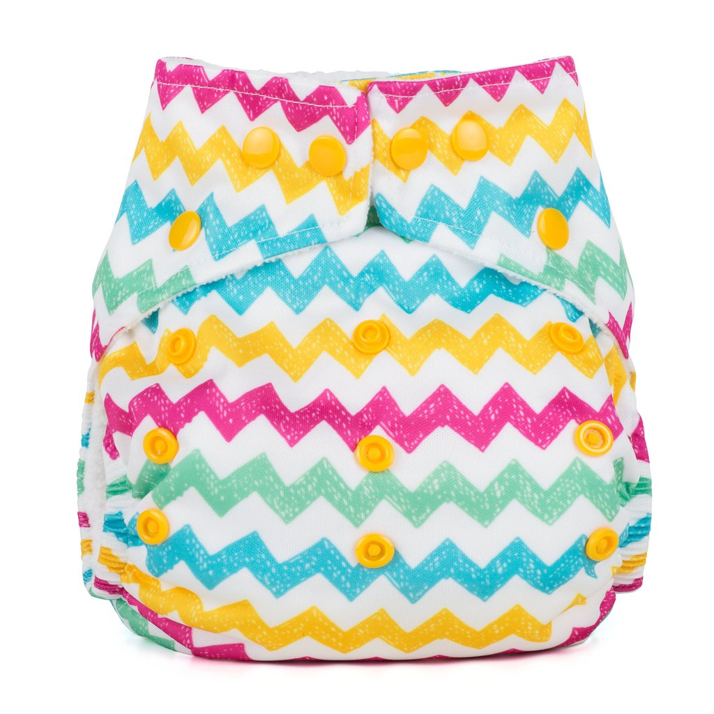 Baba+Boo One Size Reusable Cloth Nappy - Chevrons