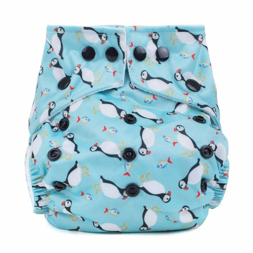 Baba+Boo One Size Reusable Cloth Nappy - Puffins