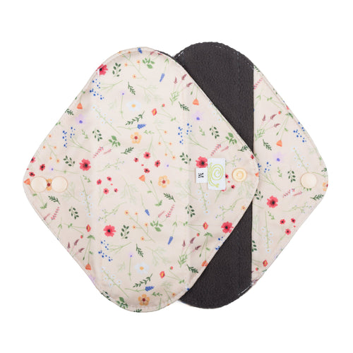 Reusable Cloth Sanitary Pads Wildflowers - Medium - Baba + Boo
