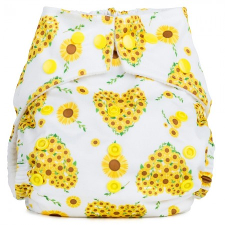 Baba+Boo One Size Reusable Cloth Nappy - Sunflowers