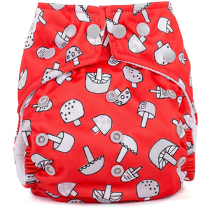 Baba+Boo One Size Reusable Cloth Nappy - Toadstools