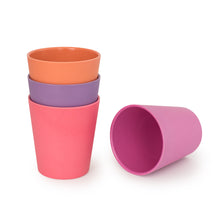 Bobo & Boo Bamboo Cup Set -Sunset Pink