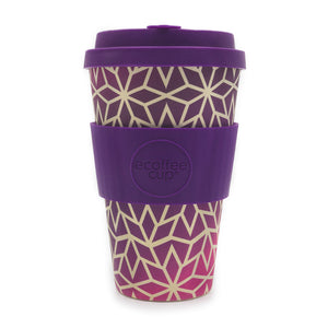 Reusable Bamboo Ecoffee Cup - Stargrape 14oz 400ml
