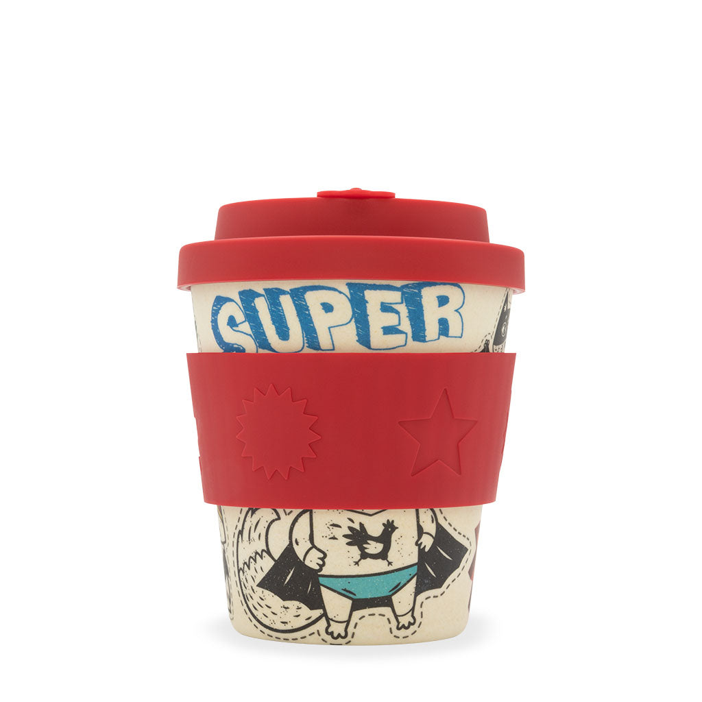 Reusable Bamboo Ecoffee BooCup - Superhero Kids 8oz