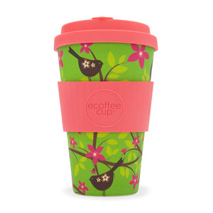Reusable Bamboo Ecoffee Cup - Widdlebirdy 14oz